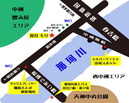 中洲もり近辺地図2
