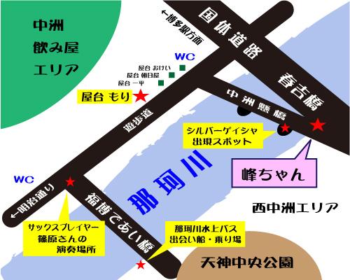 中洲もり近辺地図3