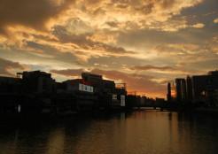 那珂川沿いの夕焼け