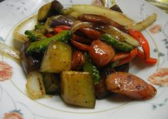 夏野菜のオイスターソース炒め