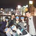 那珂川沿いの夜景とバルウォーク探検隊