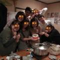 みそ汁・若尾にて、誕生日会